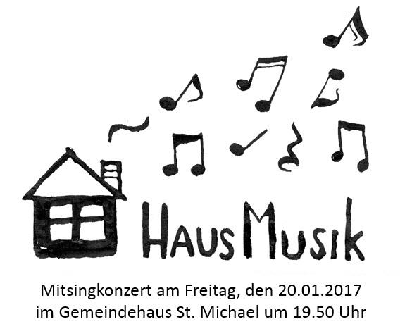 Jeder kann mitsingen: Mitsingkonzert am 20.01.2017